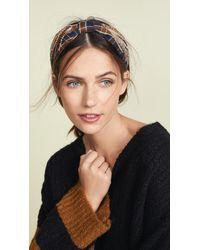 NAMJOSH - Brown Plaid Headband - Lyst