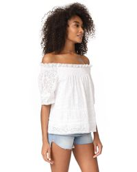 Needle & Thread - White Off The Shoulder Top - Lyst