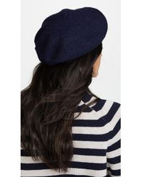 Hat Attack - Blue Wool Beret - Lyst