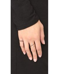 Kismet by Milka - Metallic 2 Row Pinky Ring - Lyst