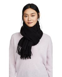 Acne - Black Canada Narrow Scarf - Lyst