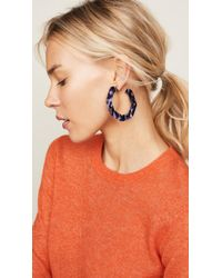 BaubleBar - Blue Octagon Hoop Earrings - Lyst