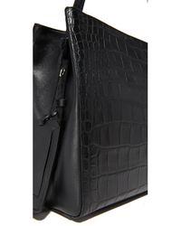 Little Liffner - Black Croc Shopper Bag - Lyst