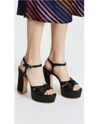 Rachel Zoe - Black Avery Platform Sandals - Lyst