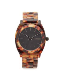 Nixon | Brown Time Teller Acetate Watch | Lyst