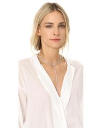 Kenneth Jay Lane | Metallic Pear Shape Y Necklace | Lyst