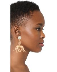 Mercedes Salazar - Metallic Florecina Clip On Earrings - Lyst