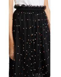 Re:named - Black Imitation Pearl Tutu Midi Skirt - Lyst