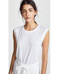 Vince - White Muscle Tank - Lyst