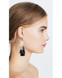 Rebecca Minkoff - Multicolor Stacked Tassel Earrings - Lyst