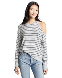 LNA - Gray Brushed Flynn Sweater - Lyst