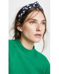 Tanya Taylor - Blue Printed Headband - Lyst