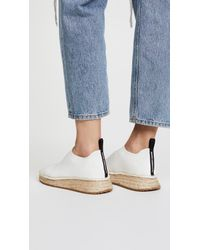 Alexander Wang - White Dylan Low Knit Espadrille Runners - Lyst