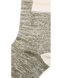 Free People | Green Albury Crew Socks | Lyst