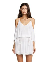 Ella Moss - White Woven Moments Cold Shoulder Tunic - Lyst