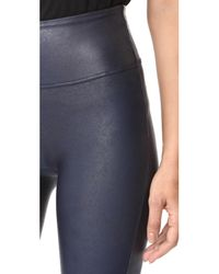 Spanx - Blue Faux Leather Leggings - Lyst