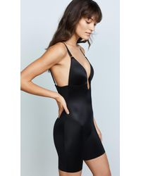 Spanx - Black Suit Your Fancy Plunge Back Mid Thigh Bodysuit - Lyst
