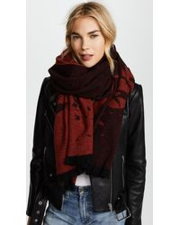 McQ Alexander McQueen - Red Swallow Degrade Scarf - Lyst