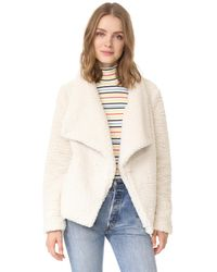 BB Dakota | White Jack By Adderly Sherpa Jacket | Lyst