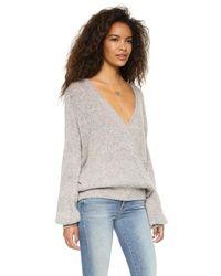Free People - Multicolor Karina Wrap Sweater - Lyst