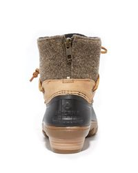 Sperry Top-Sider - Brown Saltwater Wedge Tide Wool Booties - Lyst