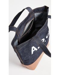 A.P.C. - Blue Cabas Axel Tote - Lyst
