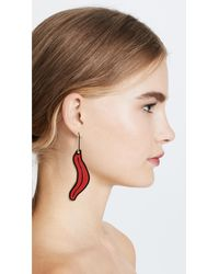 Marni - Multicolor Petal In Resin Earrings - Lyst
