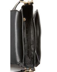 MICHAEL Michael Kors - Black Delfina Saddle Bag - Lyst