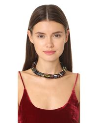 Lulu Frost - Black Josephine Sequin Collar Necklace - Lyst