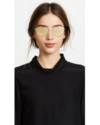 Quay - Metallic Heart Breaker Sunglasses - Lyst