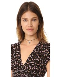 Vanessa Mooney - Multicolor The Leather Choker Necklace - Lyst
