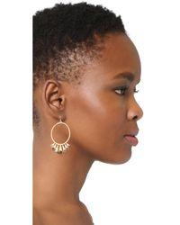 Alexis Bittar - Metallic Arrayed Stone Cluster Wire Earrings - Lyst