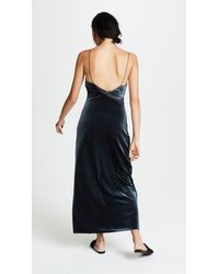 Free People - Blue Spliced Velour Maxi Dress - Lyst