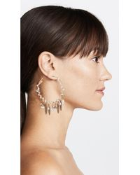 Gas Bijoux - Metallic Bo Creole Pondichery Pompon Earrings - Lyst