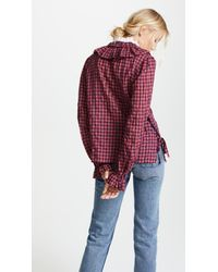 Warm - Red Check Blouse - Lyst