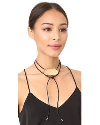 Elizabeth and James - Metallic Lulu Wrap Necklace - Lyst
