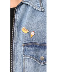 Georgia Perry - Multicolor Hot Dog Lapel Pin - Lyst