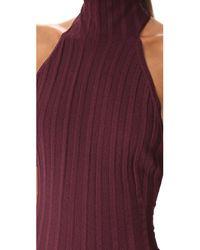 Cushnie et Ochs - Black Mock Neck Backless Dress - Lyst