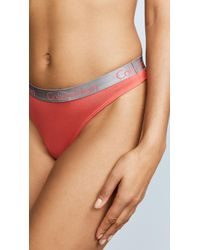 Calvin Klein - Multicolor 3 Pack Radiant Cotton Thongs - Lyst