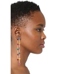 Kenneth Jay Lane - Multicolor Multi Drop Earrings - Lyst