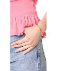 Vita Fede - Metallic Mini Titan Metal Tip Stone Bracelet - Lyst