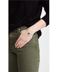 Marc Jacobs - Black Enamel Logo Disc Bracelet - Lyst