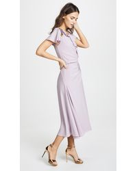 Zac Posen - Purple Ruffle Sleeve Dress - Lyst