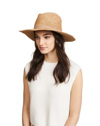 Hat Attack - Multicolor Raffia Crochet Continental Hat - Lyst