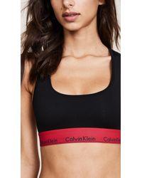 Calvin Klein | Black Modern Cotton Bralette | Lyst