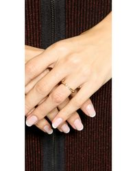Elizabeth and James - Metallic Obi Ring - Lyst