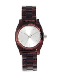 Nixon - Red Medium Time Teller Watch, 35mm - Lyst