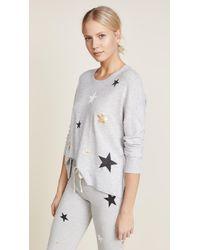 Sundry - Gray Stars Sweater - Lyst