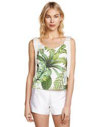 Ewa Herzog - Green Palm Print Top - Lyst