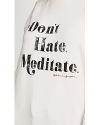 Spiritual Gangster - Multicolor Meditate Old School Pullover - Lyst